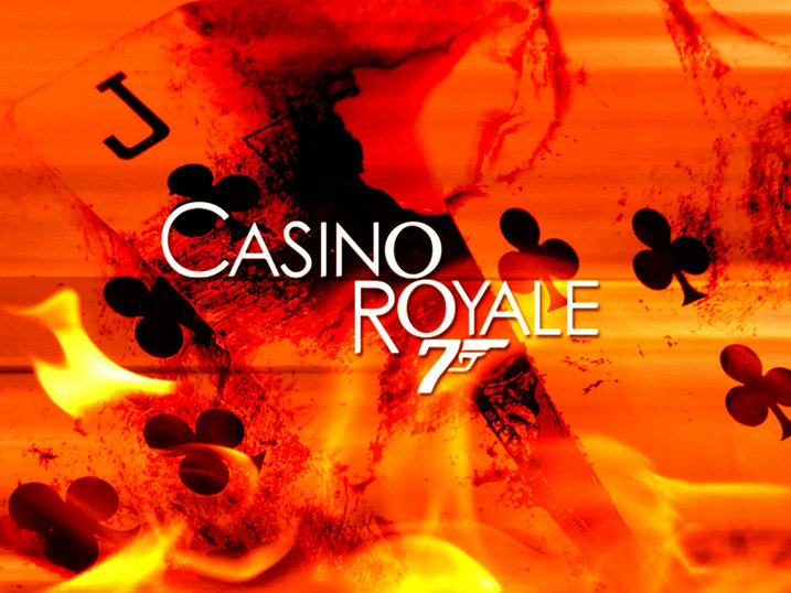 Royale Casino Poker Flame James Bond 007 Movie Poster background High quality Computer print party backdrops image
