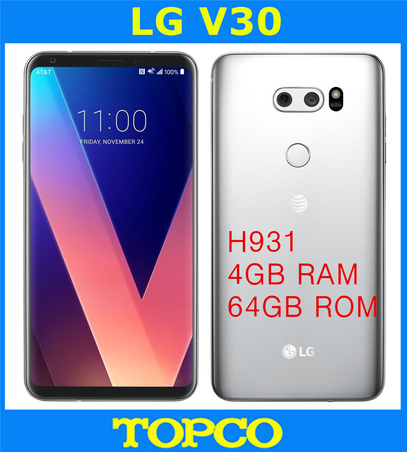 US $414 5 |LG V30 H931 AT&T Version Original Unlocked GSM 4G LTE Android  Octa Core RAM 4GB ROM 64GB 6 0