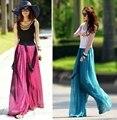 Plus tamaño de los pantalones palazzo verano de las mujeres ocasionales pantalones flare pantalones de pierna ancha de alta cintura suelta