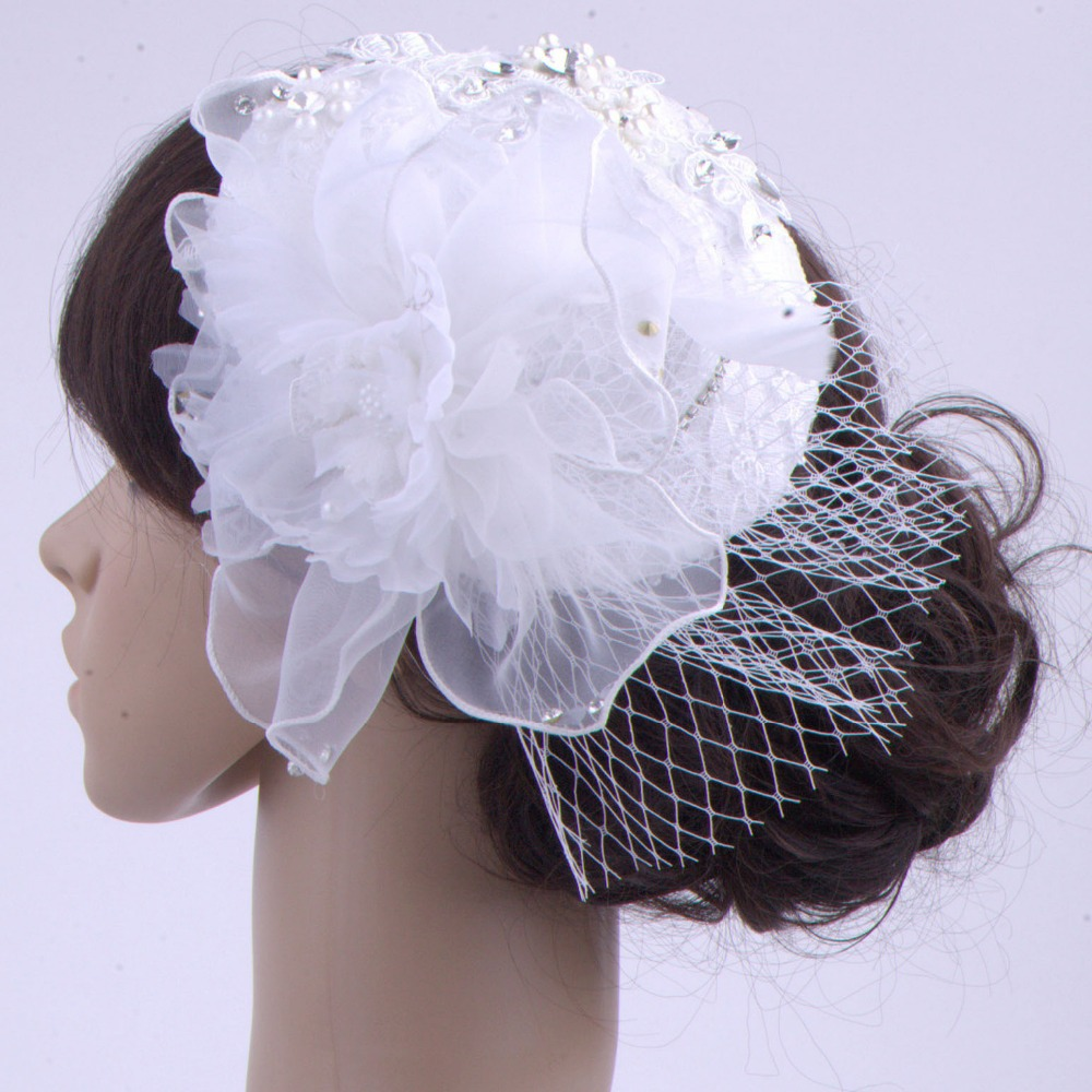 2015 Vintage High Quality Wedding Accessories Beautiful White Flower
