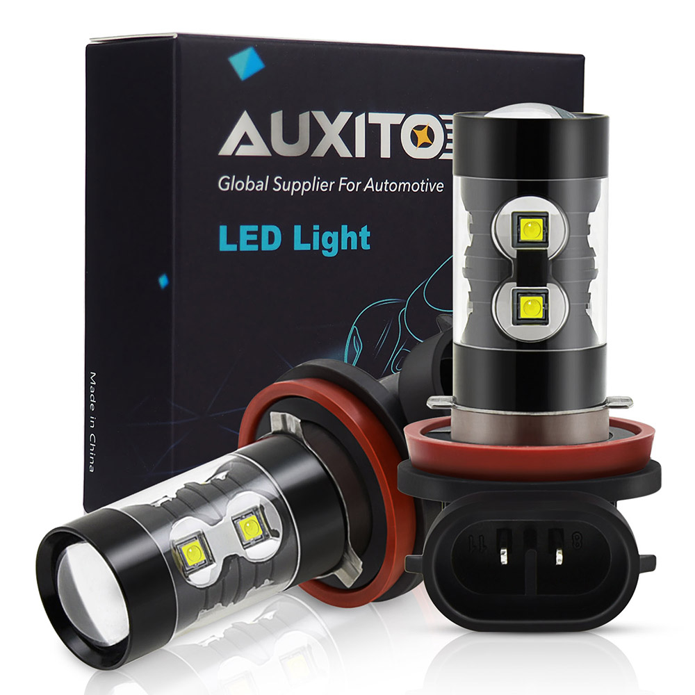 Partsam 2X 144LEDs 2400LM Extremely Bright 9006 HB4 LED Fog Light Bulbs 6000K Xenon White High Power Chipsets w//Projector for DRL Daytime Running Light Driving Fog Lights 12-24V