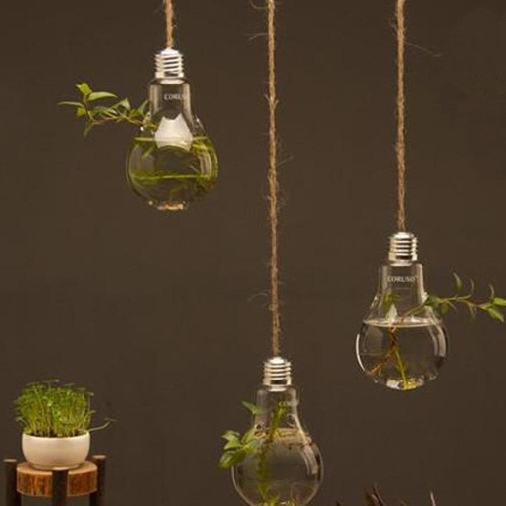 Aliexpress.com : Buy Glass Bulb Lamp Shape Flower Water