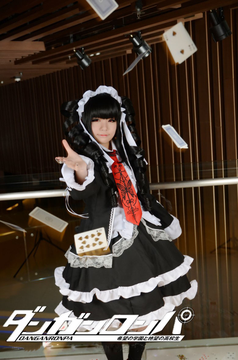 Danganronpa Dangan Ronpa Celestia Ludenberg Cosplay Costume Fancy Custom Made Free Shipping