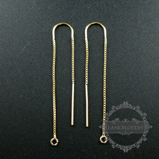 4cbc4b57f6b4e US $14.74 |47x8mm gold filled high quality color not tarnished U threader  box chain drop with open ring DIY earrings supplies 1705047-in Jewelry ...