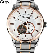 2016 Новый «Гея» Швейцарские Часы Мужчины Полые Стальные Автоматические Механические Часы Мужчины Бизнес-Роли Стиль Часы x50m Водонепроницаемый Хронограф