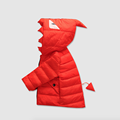 O novo 2016 do inverno quente para baixo roupas jaqueta crianças meninos e meninas das crianças monstro Pequeno fino casaco com capuz para baixo