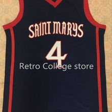 45c57cf4ec5 #4 matthew dellavedova Saint Marys University Throwback Mens Basketball  Jersey Embroidery Stitched Customize any name