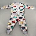 New Fashion 2 Patterns Children Sweater Girls& Boys Clothing Thick Warm Suit Kids Winter Long Sleeved Coat+Pants Kids Set