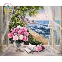 Coloring By Numbers On Canvas Hand Painted Canvas Oil Paintings Modular Landscape Pictures Home Decor Wall