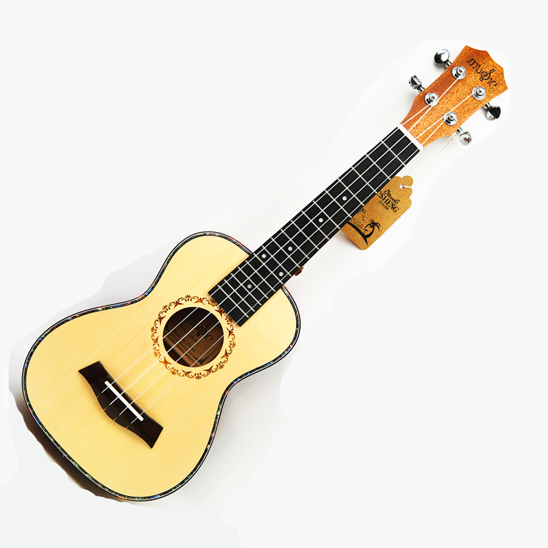 23 inch Ukulele 4 String Hawaiian Guitar Solid wood Ingman Spruce Top panel  Ukelele concert Acoustic guitar Rosewood 17 Fret high quality solid wood guitar 41 inch spruce wood panel acoustic guitar guitarra free shipping