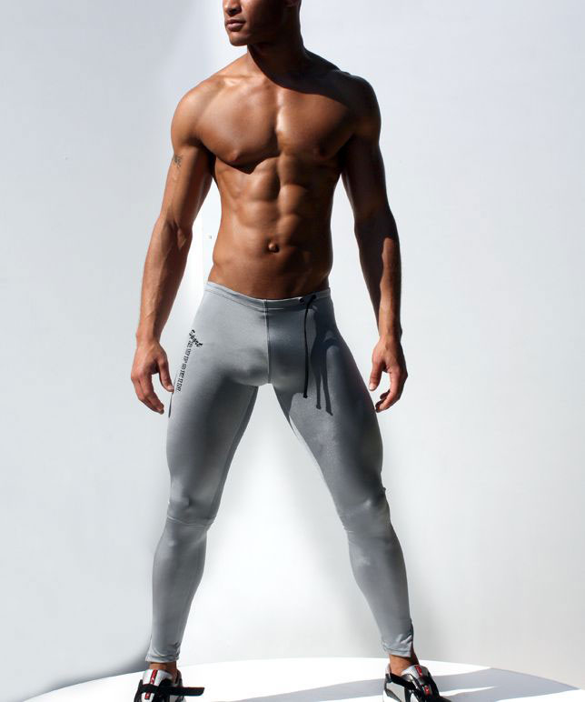 500dbd52f64a33 Yehan Men Compression Pants Low Rise Solid Sweatpants Elastic Spandex Long  Tights Men Black Mallas Hombre Compresion Skinny Pant-in Skinny Pants from  Men's ...
