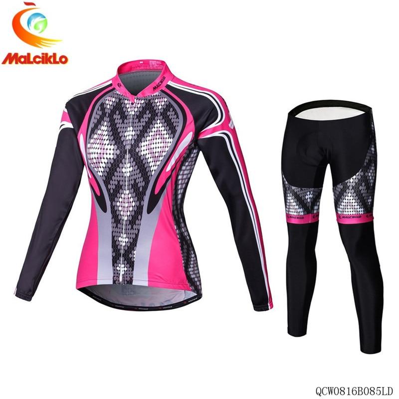 Malciklo Cycling Clothing Women Pro Fabric Autumn Cycling Jersey 2018 Bike Cycling Maillot Woman Cycling Clothes Ropa Ciclismo|Cycling Sets| |  - title=