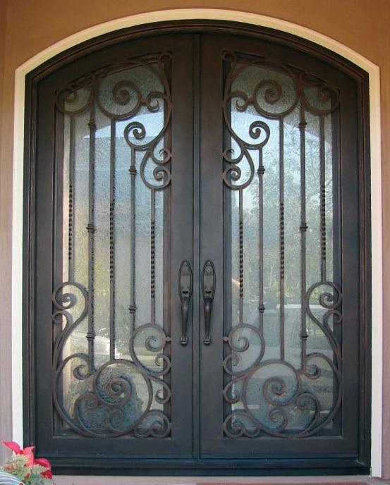 Doors,Finished, modern interior door for ROT 020 square iron doors design with glass-in Doors
