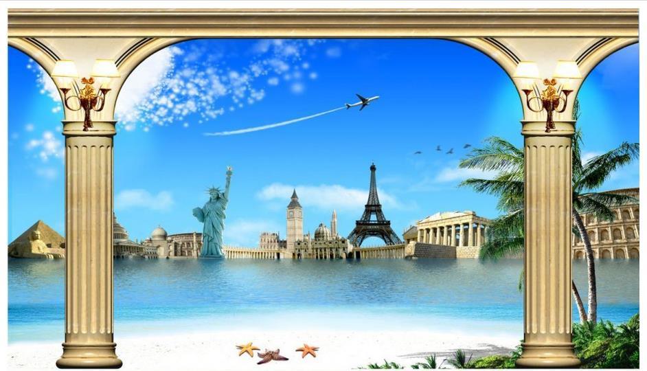 3d photo wallpaper Custom High end 3d murals wallpaper for ...