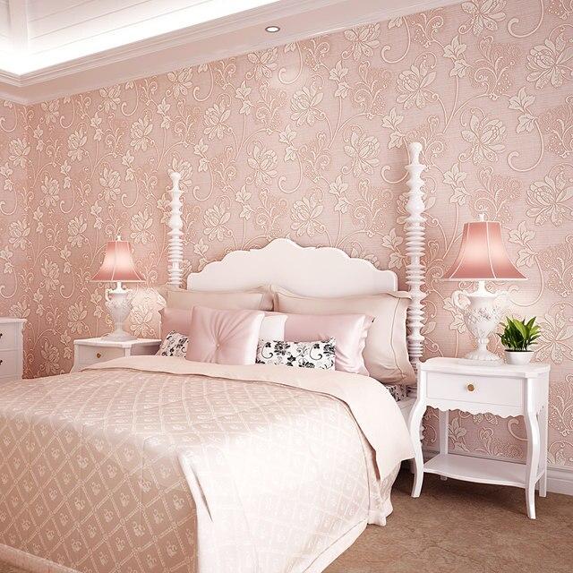 Online Shop European Style Relief Non -woven Wallpaper papel de ...
