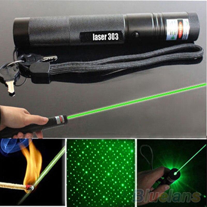 Sternen Kopf G303 Grünen Laser-Pointer Einstellbarer Fokus 532nm Aerometal Lazer Strahl Laserpointer Set