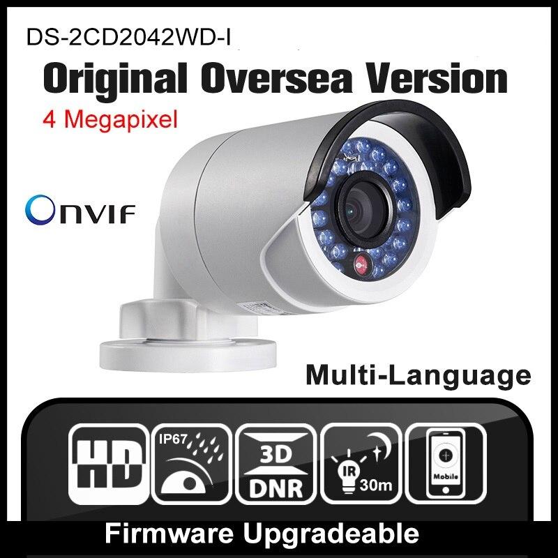 imágenes para HIK DS-2CD2042WD-I Original Versión de Ultramar Múltiples Idioma GUI $ NUMBER MP Red POE Cámara CCTV P2P Onvif H.264 Al Aire Libre