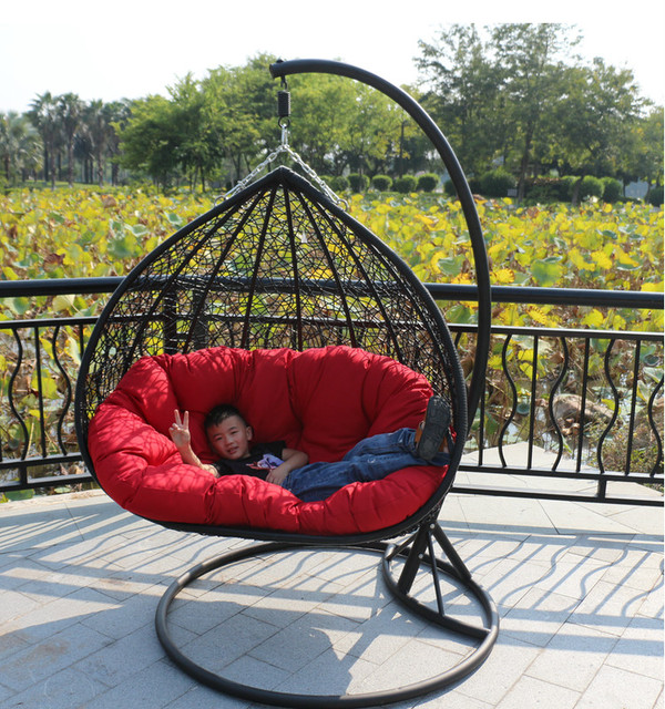 Incroyable Double Indoor Swing Chair Hanging Basket Rattan Wicker Dormitory Balcony  Chairs