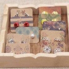 100 шт милые Новые поступления серьги карты дисплей ювелирные изделия индивидуальный стиль Catch Dream дизайн Красочный завод картон 3,5x2,5 см