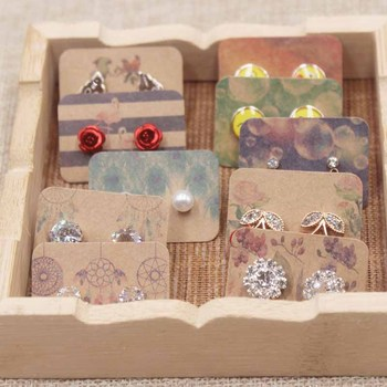 New Arrived Earring Card Display Jewelry Custom Personal Style Catch Dream Design Colorful Plant Cardboard