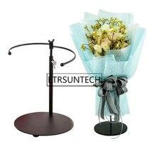 Металлический цветок невесты букет стенд Железный телескопический держатель для букетов цветок дисплей Свадебные церковные вечерние украшения
