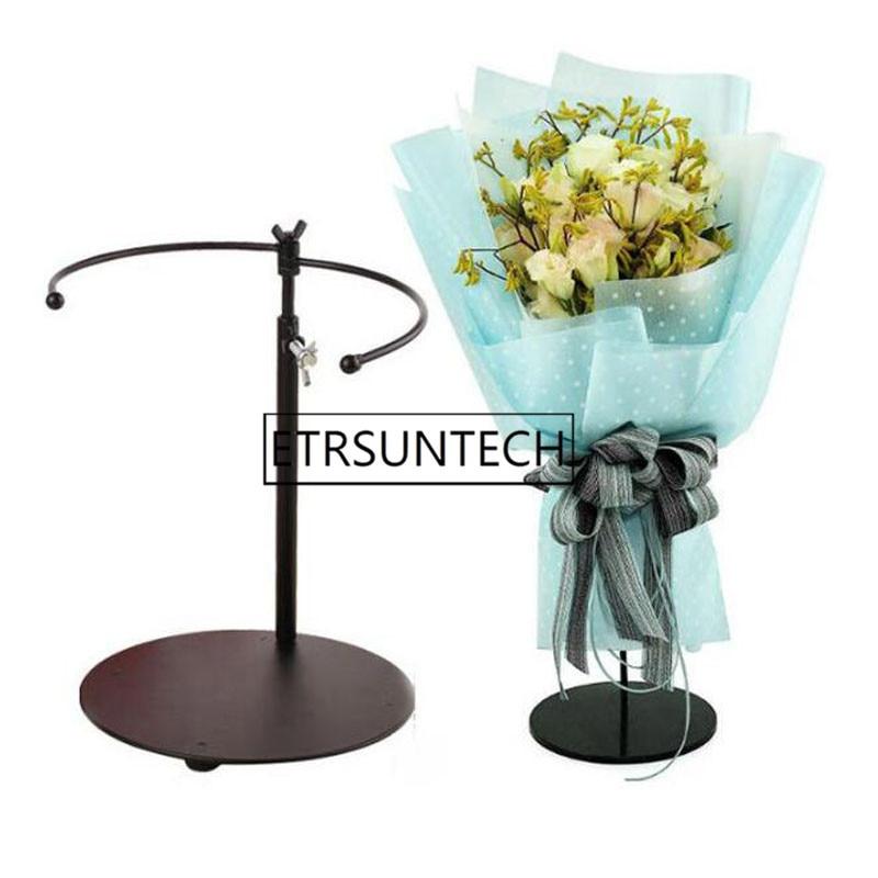 Metal Flower Bride Bouquet Stand Iron Telescopic Bouquet Holder Florist Flower Display Wedding Church Party Decoration