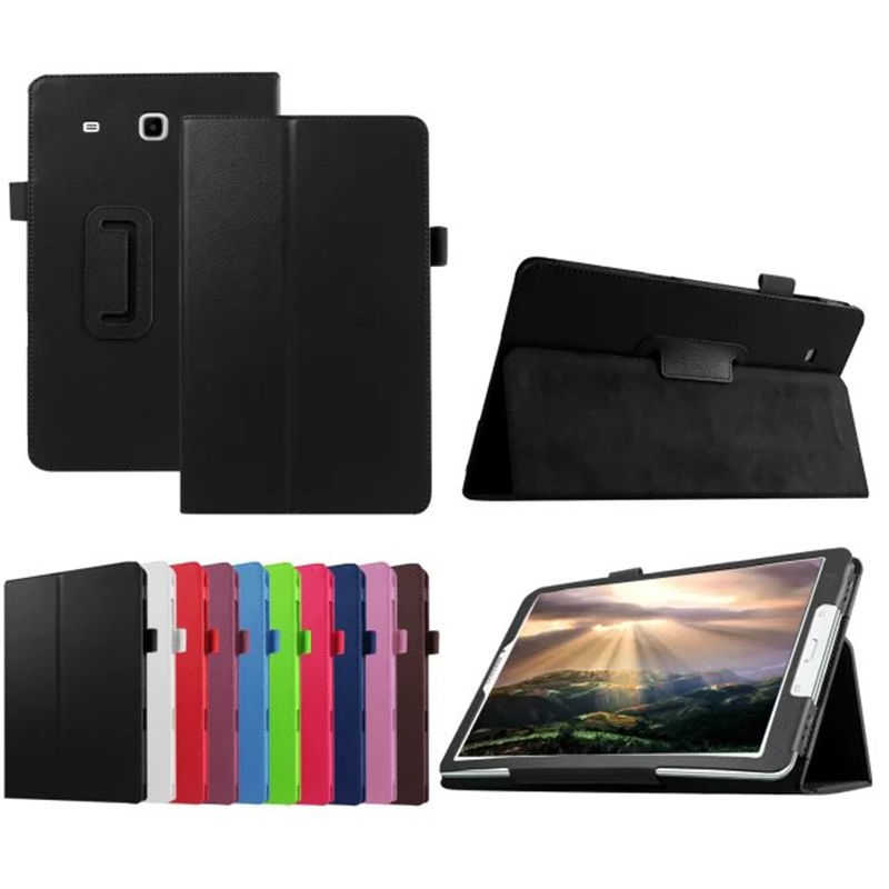 For Samsung Galaxy Tab E 9.6 inch SM T560 T561 Cover Case Protective PU Leather Tab e SM-T560 SM-T561 9.6 Tablet PC Case Cover