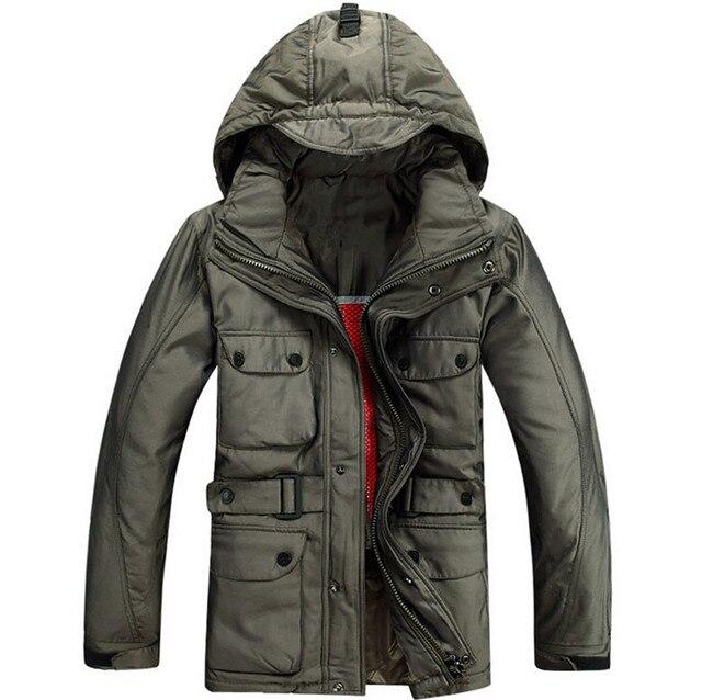 2016 Marca nova jaqueta de pato para baixo homens casaco de Inverno quente grossa dos homens do lado de fora de pato branco para baixo casaco jaqueta masculina JK040