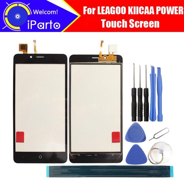 5.0 inch מסך מגע כוח KIICAA LEAGOO זכוכית 100% אחריות המקורי מסך זכוכית לוח מגע זכוכית עבור KIICAA כוח