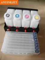 Double 4 color bulk ink system for Mimaki JV33 JV5 JV3 printer ( 4tanks+8 cartridges)