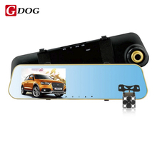 Wholesale prices Car DVR Mirror Full HD 1080P Digital Video Recorder With Dual Cameras Camcorder Rearview Monitor car camera night vision