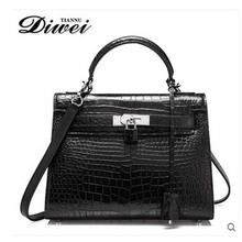 diwei 2017 new hot free shipping women bag real crocodile handbag single shoulder inclined bag  female bag fashion women bag