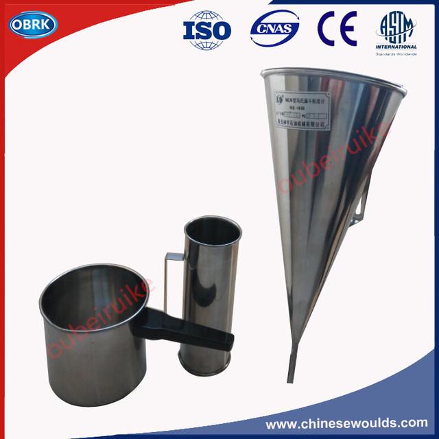 Norma ASTM aço Funil Viscosímetro Marsh Conjunto De Testes