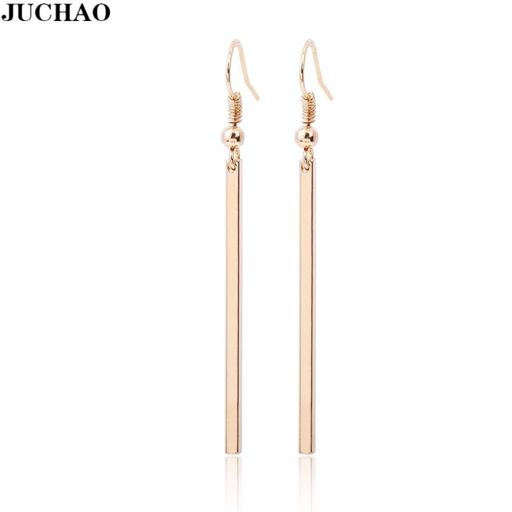 Женские серьги-кубики JUCHAO, простые прямоугольные геометрические серьги золотистого/серебристого цвета, свадебные украшения