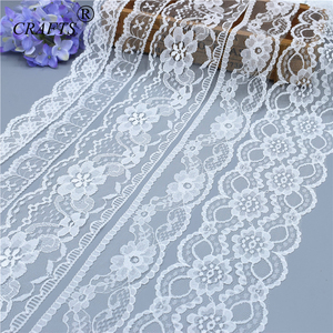 5-10 yards Brand new beautiful white lace, DIY crafts/wedding/clothing/lace ribbon gift wrapping (5 or 10yards/roll(China)
