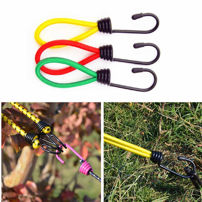 Lateks elastyczna stałe lina zapięcie karabinek praktyczne elastyczne sprzączka na sznurku mocowania zespół na świeżym powietrzu dostaw wiosna zaczep na pasek