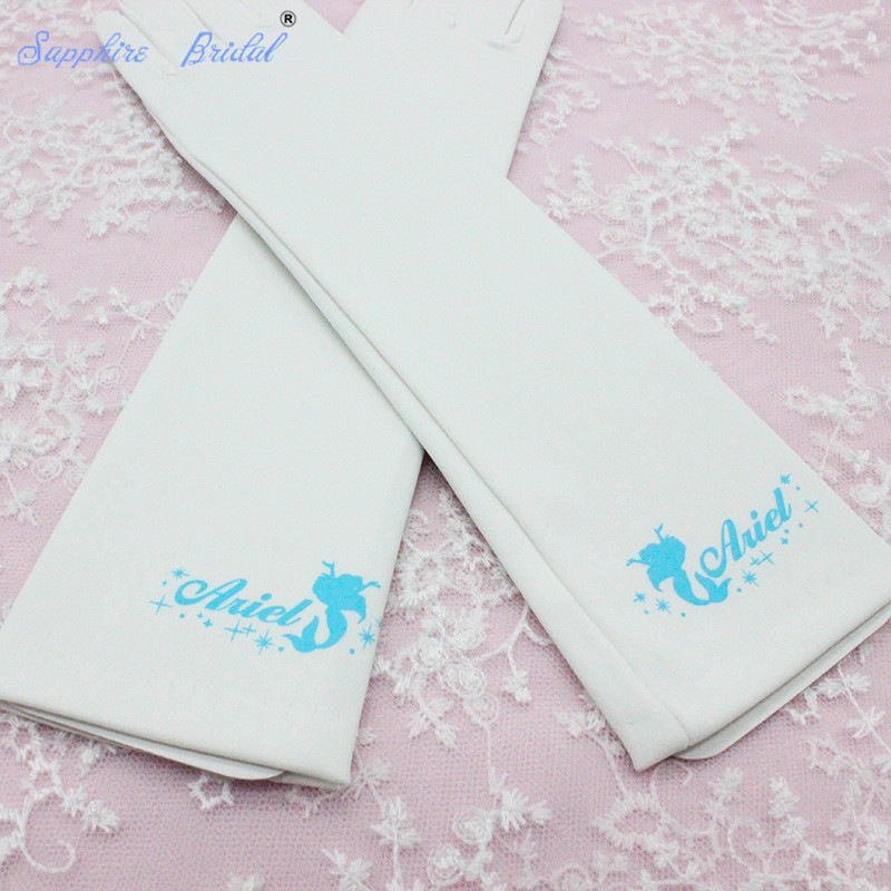 Sapphire Bridal 2018 Opera Length 27cm Long Spandex Formal Gloves Flower Girl Gloves gloves Dancing Party 8-12yrs Girls Hot Sale