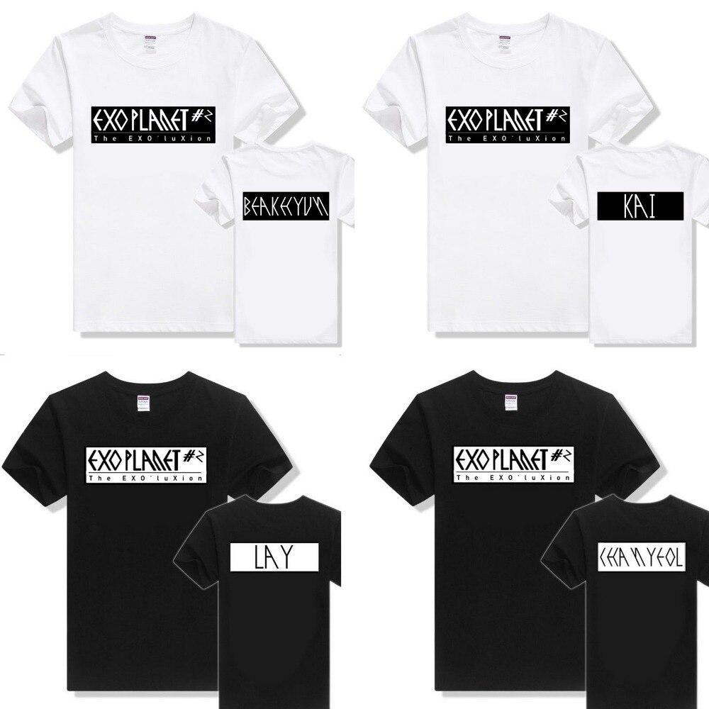 Design t shirt for group - Aliexpress Com Buy 2015 Kpop Exo Group Tops Men Tops Tees Cotton T Shirt Women Men Fashion Design Men S T Shirt Printed Big Size From Reliable Cotton