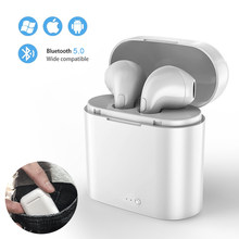 i7s TWS Wireless Earphone 3D Bluetooth Headphones With Mic Stereo Android Headset For Iphone Xiaomi Mini With Charging Box Sport(China)