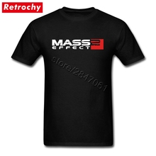 Precio barato Mens Game Fans camiseta mass effect 2 camisetas de manga corta calidad de impresión camisetas de equipo de tamaño alto
