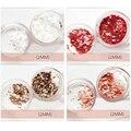 1 Caja de Colores Mate de Uñas Consejos Glitter Gorgeous 1/2mm Ronda Manicura del Arte Decoración