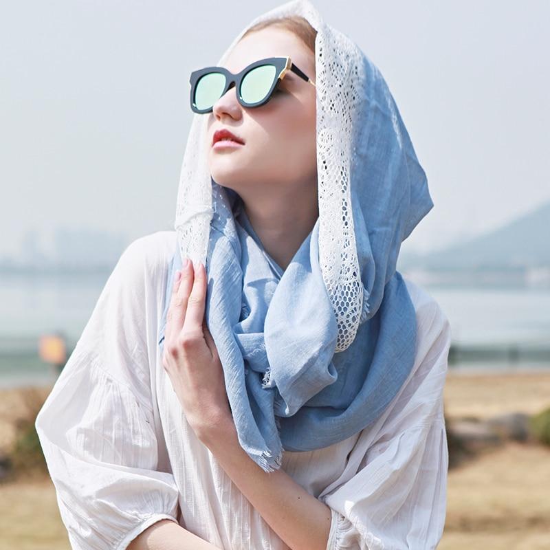 Genovega Viscose Ring Tørklæde Til Kvinder Infinity Cirkel Halstørklæder Kvinde Vinter Varm Lady Lace Scarf Loop Blå Big Foulard Femme
