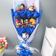 Hot Dragon Ball Z Model Toys Flower Bouquet No Box Goku Piccolo Gohan Chichi Master Action Figure Toy  Birthday Gift