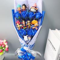 Hot Dragon Ball Z Model Toys Flower Bouquet No Box Goku Piccolo Gohan Chichi Master Dragon Ball Action Figure Toy Birthday Gift