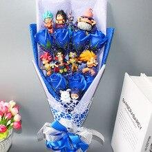 핫 드래곤 볼 Z 모델 완구 꽃 꽃다발 상자 없음 Goku 피콜로 고한 치치 마스터 드래곤 볼 액션 피규어 장난감 생일 선물