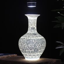 quality classic lusterware translucidus antique blue and white porcelain flower vase eggshell vase home decoration house