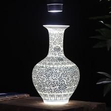 quality classic lusterware translucidus antique blue and white porcelain flower vase eggshell vase home decoration house gift