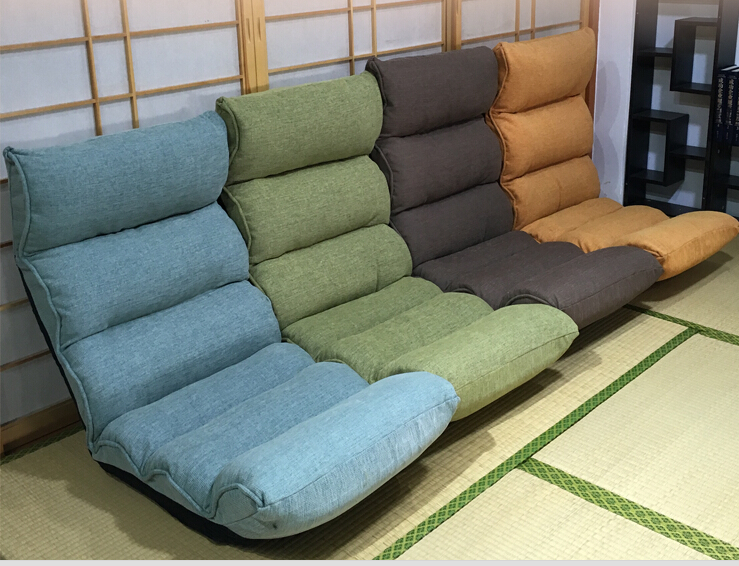 Floor Folding 42 Angle Adjustable Recliner Chair Living Room Furniture Japanese Relax Leisure Cushion Seating Lounge Chair Seat relax sofa chair living room furniture floor adjustable sofa chair reclining chaise lounge modern fashion leisure recliner chair