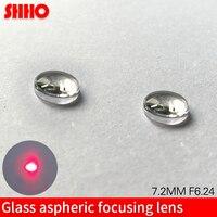 high quality glass lens diameter 7.2mm focus distance 6.24mm Aspherical lenses sample Laser collimating lens AR coated
