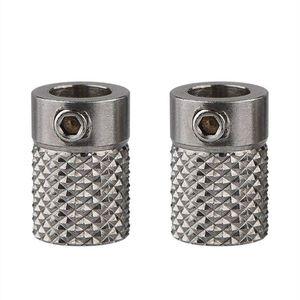 Image 1 - 2 adet paslanmaz çelik tırtıllı 3D yazıcı ekstruder sürücü dişli besleyici tekerlek delik 5mm Ultimaker2 UM2